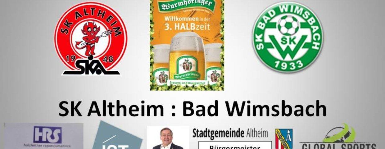 Heimspiel gegen Bad Wimsbach
