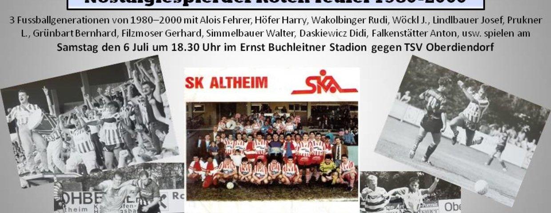Nostalgiespiel Samstag 6 Juli um 18.30 in Altheim