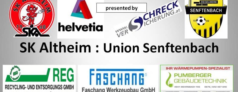 SK Altheim 0 : 1 Union Senftenbach