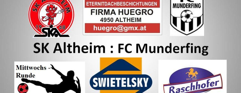 SK Altheim 5:2 FC Munderfing