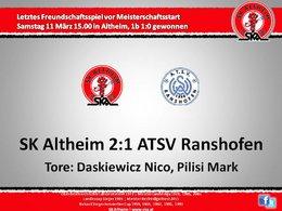 SK Altheim 2:1 ATSV Ranshofen