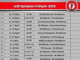 Spielplan Frühjahr 2018