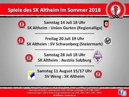 Vorbereitungsspiele Sommer 2018